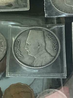 Egyptian archaeological coin from the era of King Fouad, dating back  +100 years