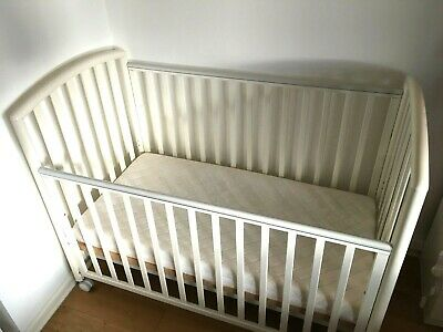 Baby Wooden Cot Bed Crib Pali White