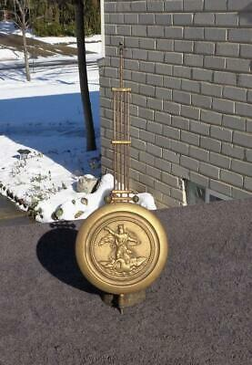 Brass Pendulum German Open Well Regulator Junghans Kienzle Becker Wall Clock