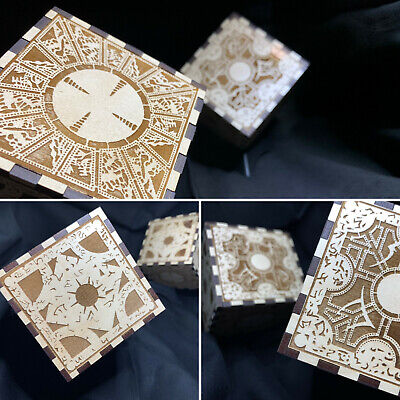 Hellraiser Puzzle Box Laser Engraved Puzzle Box Cube with Stand