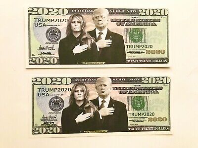 2  Donald and Melania Trump 2020 Commemorative Presidential Re-election Currency