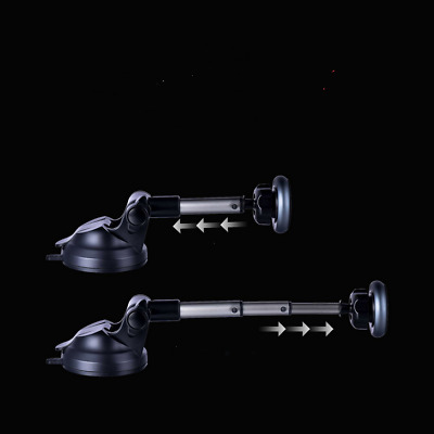 Telescopic Magnetic Alloy Mount Car Phone Holder 360° Rotating Suction Cup