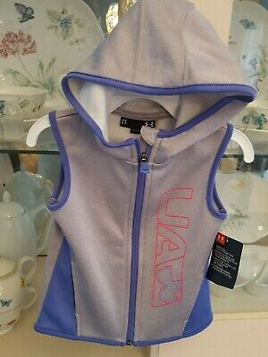 Nwt Under Armour Girls Sleeveless Zip Up Hooded Vest - Various Sizes