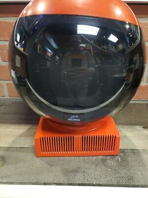 Vintage JVC Video Sphere TV Red Model 3240 Space Age Television