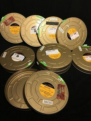 "4 Lot  Cold Case, Desperate Housewife, Alias 10 3/4 "" Metal 35MM Film Cans Kodak"