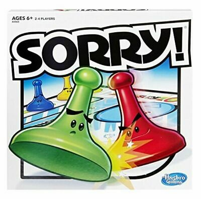 Sorry Game 2016 Edition Board Game Family by Hasbro Gaming - New/Sealed