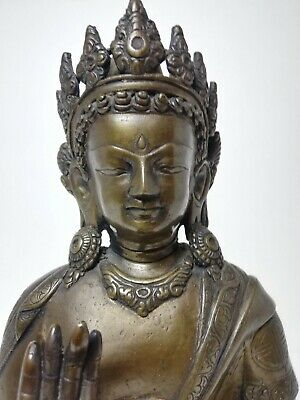 Bella Figura Buda de Bronce Antigua - Beautiful Ancient Bronze Buddha figure