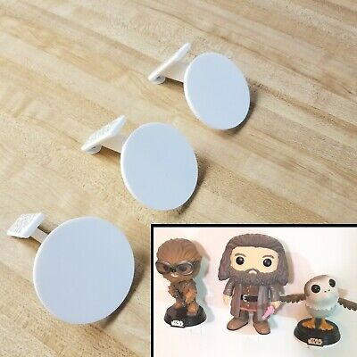 3 Pack of Individual Funko Pop Display Shelves for Figurines Free Shipping White
