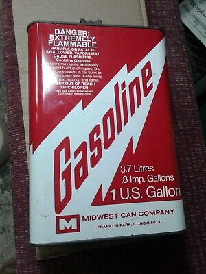 Vintage Standard Container Co 1 Gallon Metal Gas Can Midwest Can Company