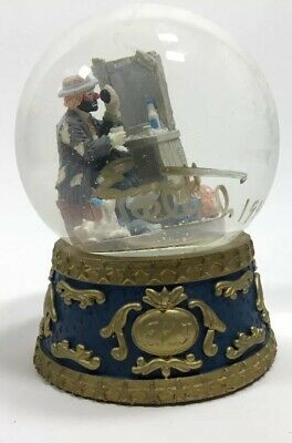Vintage Autographed Scottville Michigan Clown Band Snow Globe Marching Hobo MI