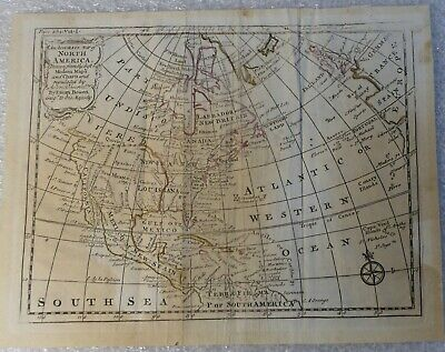 Map Of North America Emanuel Bowman Book Plate 254 Vol 1