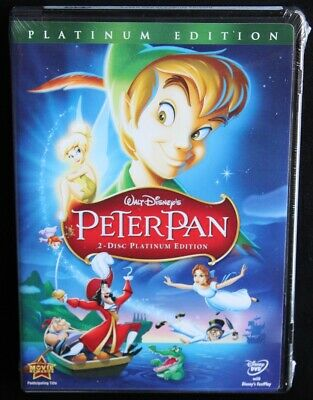 NEW SEALED Peter Pan DVD 2007 2-Disc Set Platinum Edition Disney Children Kids