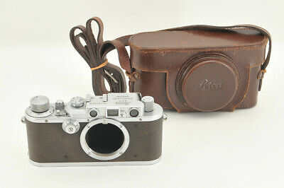 *Excellent* Leica IIIa 35mm Rangefinder Camera w/ Leather Case from Japan #3942