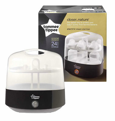 Tommee Tippee Electric Steam Luxury Bottle Steriliser Black Discontinued New
