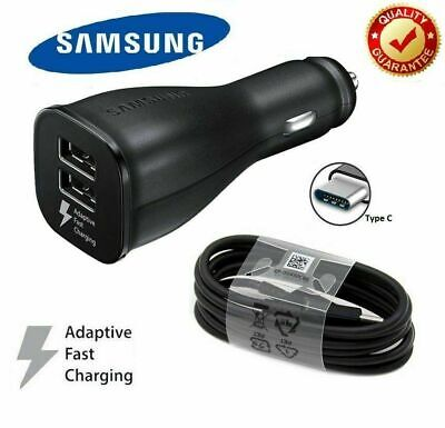 Samsung Galaxy S8 S9 S10+ Dual Port 15W Fast Car Charger & C Type Cable