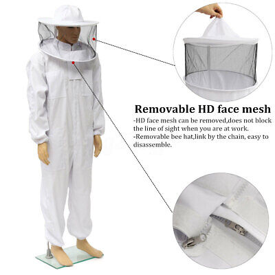 Au Full Body Apiarist Beekeeping Suit Bee Suit Heavy Duty Poly Cotton ! W
