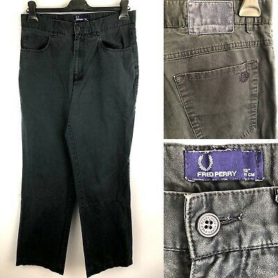 """Great Fred Perry Jeans Casual Men's Trousers 32"""" 81 cm 100% Cotton Navy"""