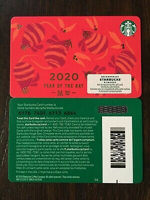 "Canada Series Starbucks ""YEAR OF THE RAT 2020"" Special Marker 'SLASH' New"