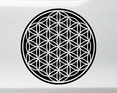 """10 STARSEED Flower of Life Sacred Geometry 5/""""//12.7 cm Holographic Stickers"""