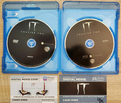 IT Chapter Two Blu-ray+DVD +DIGITAL COPIES FOR IT (4K) + IT CHAPTER 2 (HD)
