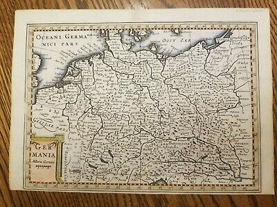 Germania 1676 Van Den Keere Map Of Germany Holland