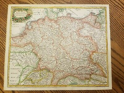 Germaniae Hand Colored Map of Germany Cluver from 1694 Nova Totius Germaniae
