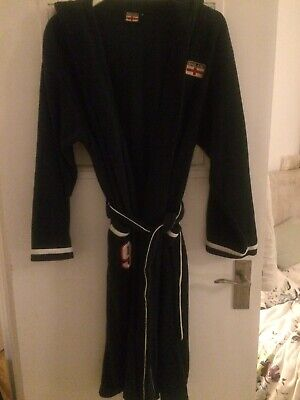 Boys Navy Fleece England Dressing Gown Robe Age 13 Years