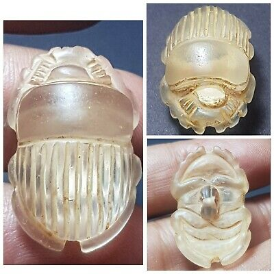 Ancient Egyptian amyzing crystal stone scarab amuelt