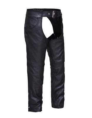 Unisex Jean Style Leather Motorcycle Chaps 0720.00 Size 2XS