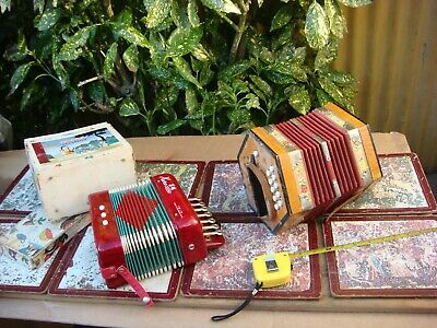 2 Small  Squeeze Box , Accordion One German And Another China
