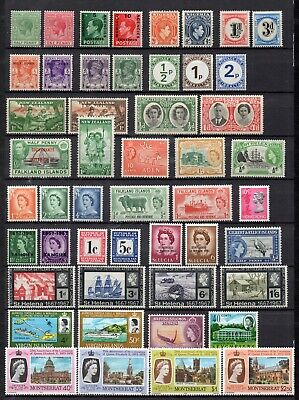 collection of 49 mint GV to QEII commonwealth stamps