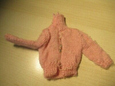 Vintage 1963 Skipper Pink Sweater With Black Tag Nice Shape Estate Sale Find!