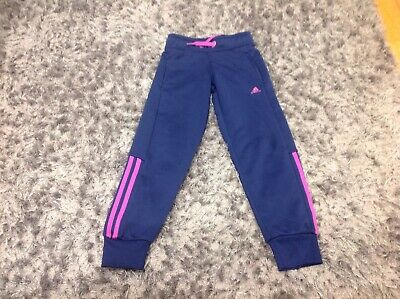 Girls Adidas Tracksuit Bottoms Age 7-8 Years