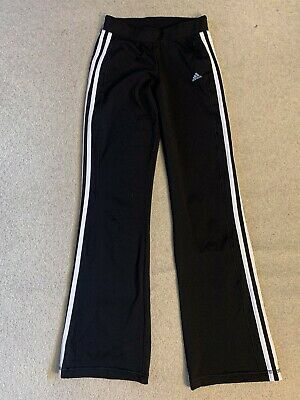 Adidas Climalite Core 365 girls tracksuit bottoms in black/white - age 13/14