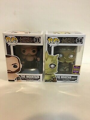 Rare Vaulted #31 The Mountain & #51 Armored Mountain GoT Funko Pop 2017 SCCC