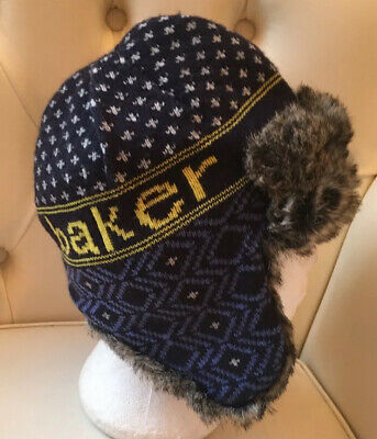 Ted Baker Boys Blue Winter Aviator Trapper Hat Age 11 - 13 Years