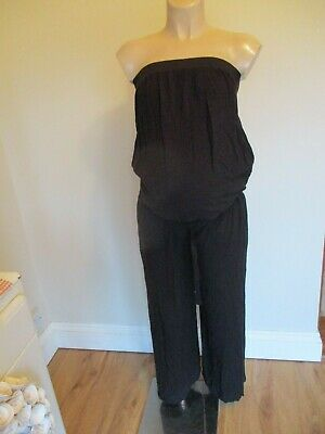 Next Maternity Black Sleeveless Jumpsuit All In One Size 8