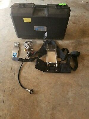 GLOBE GUARDIAN * Firefighter Oxygen Regulator & O2 Tank Pack Harness * w/ Case