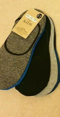 5 PAIRS M&S KIDS TRAINER NO SHOW SOCKS - with FRESHFEET- size  4-7