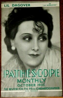Pathescope Monthly, Vintage 1935 magazine, early Walt Disney, Mickey Mouse