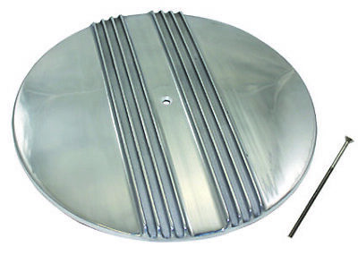 "12/"" Oval Plain Smooth Polished Aluminum Air Cleaner Lid Top only"