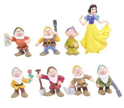 Snow White and Seven Dwarfs Collectable Cake Topper / Figurine Set