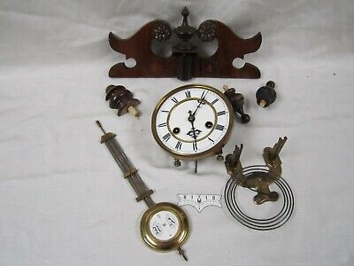 Very Nice Antique Junghans Regulator Wall Complete Clock Assembly Working