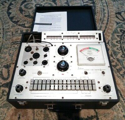 Excellent Calibrated Jackson 648-1 Vacuum Tube Tester Dynamic with Paperwork