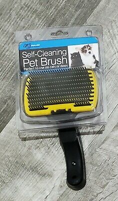 Self-Cleaning Bathing Grooming Pet Brush