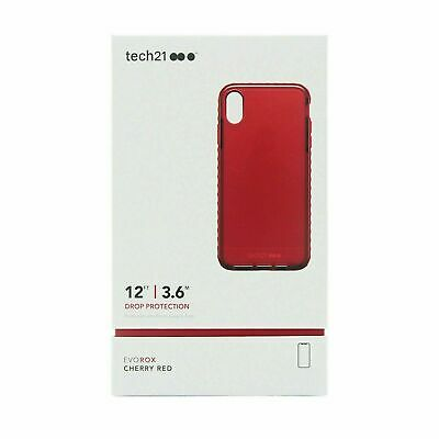 """tech21 Evo Rox Cover for Apple iPhone XR (6.1"""") Drop Protection Case Cherry Red"""