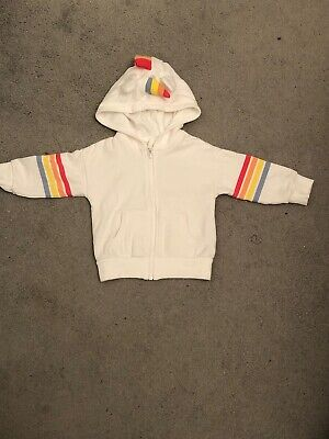 Bnwot Next Baby Girls Unicorn Zip Up Hoodie Jumper Age 1.5-2 Years
