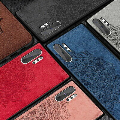 For Samsung Galaxy S20 Ultra S10 Plus S9 A50 A70 Cloth Floral Hybrid Case Cover