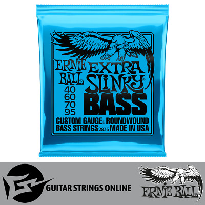 Ernie Ball 2835 Extra Slinky Roundwound Bass Strings 40-95 *Brand New*