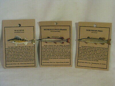 NEW MUSKIE FISH HAT PIN LAPEL PINS MUSKELLUNGE